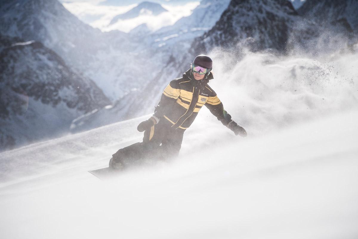 Private snowboard courses stubai glacier