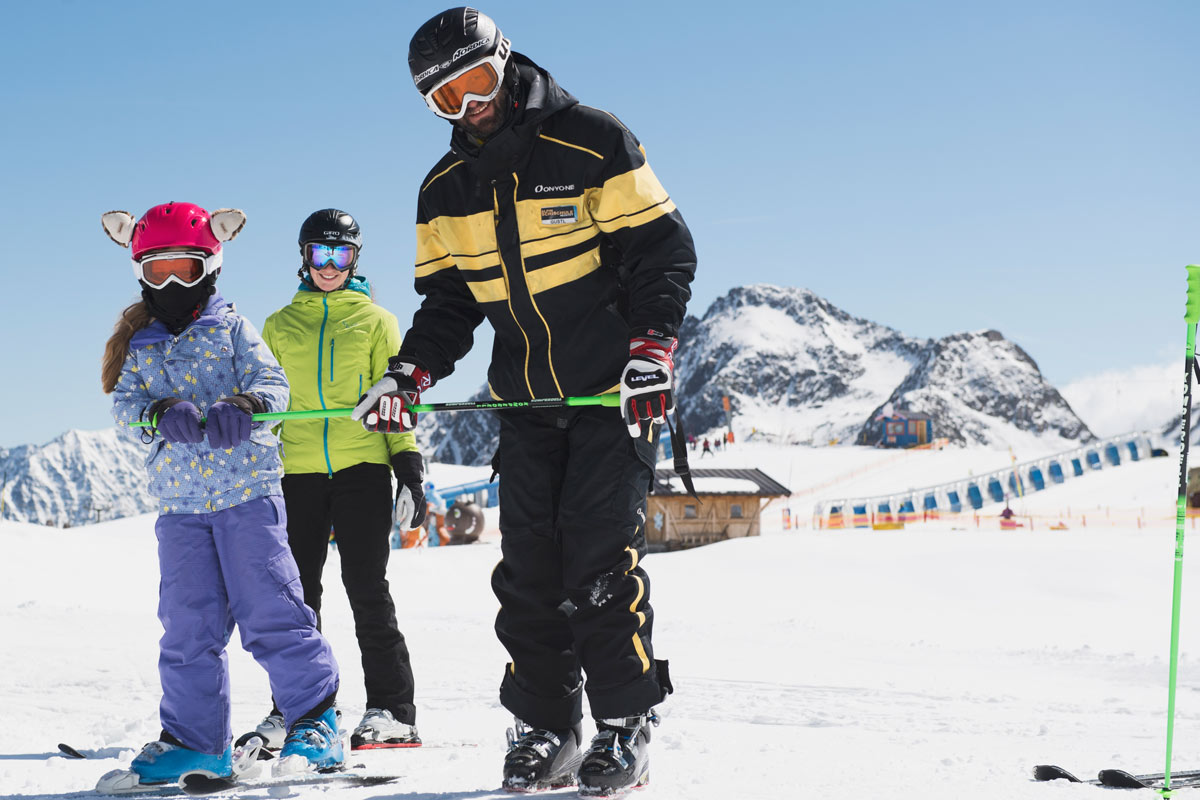 Private ski courses in neustift-stubai for children