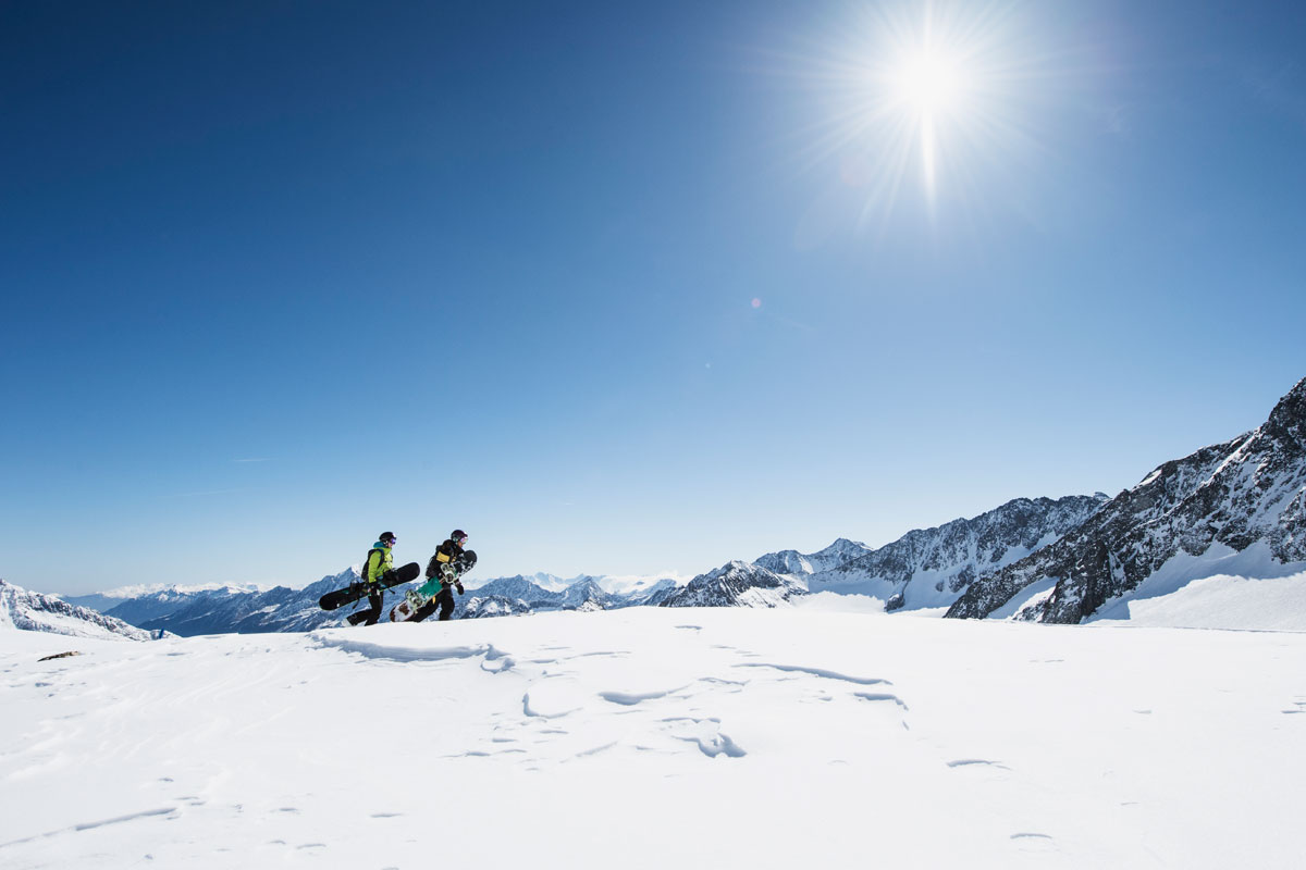 Freeride courses in neustift-stubai glacier