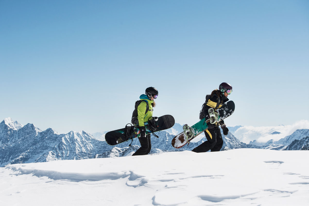 Freeride courses on the stubai glacier