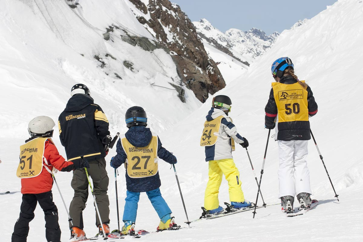 Children's ski courses in neustift im stubaital