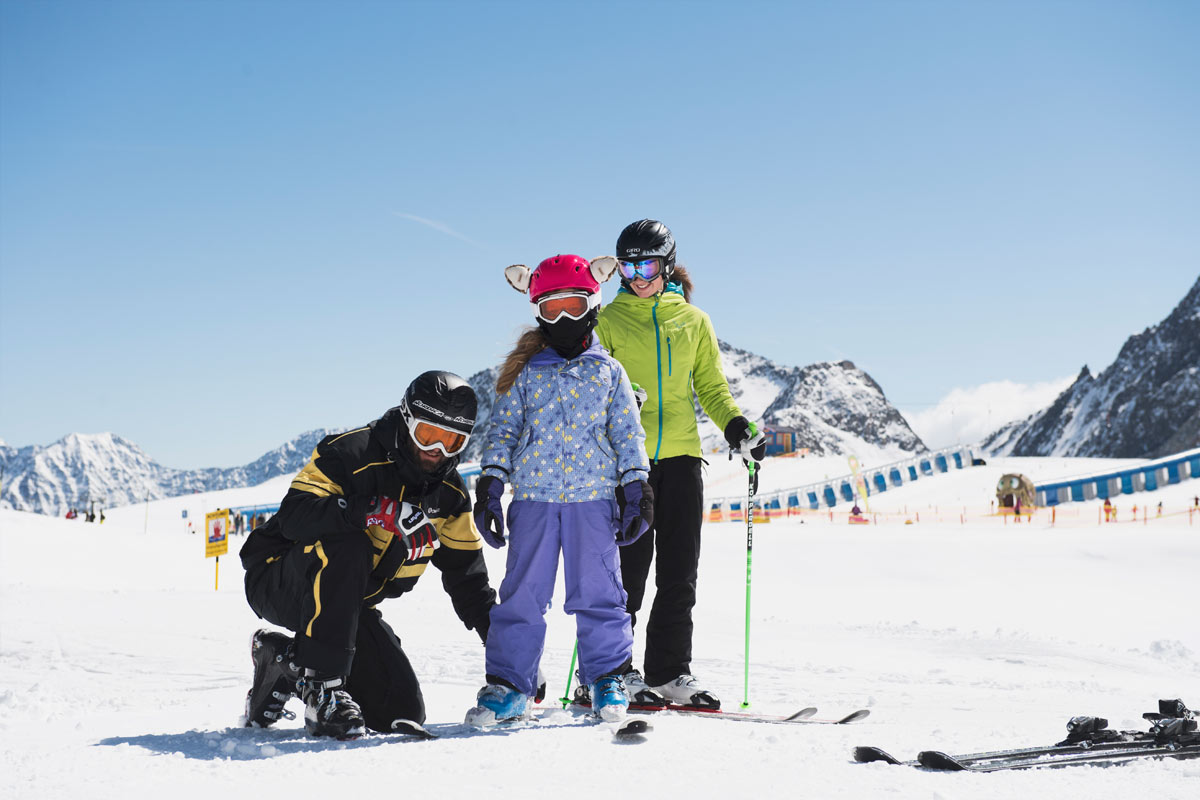 Private ski courses in stubai for children
